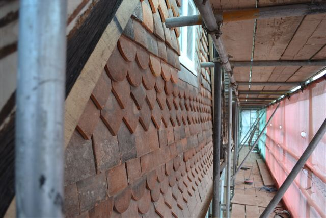 Progress on Mullins House in Dorking